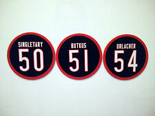 Chicago Bears Linebackers Magnets | Dick Butkus Brian Urlacher Mike Singletary