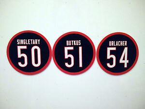 Chicago Bears Magnets - Dick Butkus, Brian Urlacher, Mike Singletary - Set of 3