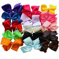 15pc 6 INCH BIG BOW HAIR CLIP PIN ALIGATOR CLIP GROSGRAIN RIBBON BOW FLOWER GIRL