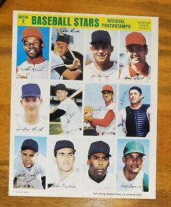 1969 MLB Baseball Stars Official Photostamps American League Series 2 MINT