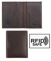 NEW Hansson Luxury Colorado Italian Brown Leather Wallet RRP £24.99 UNBOXED
