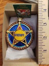 Policeman Ornament Glass Sheriff's Badge Old World Christmas 36051 11
