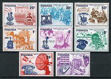 Rwanda 1976 MNH Telephone Cent Graham Bell 8v Set Science & Invention Stamps