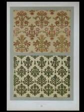VELOURS RENAISSANCE - LITHOGRAPHIE 1877 - DUPONT-AUBERVILLE, FLEURON, TISSUS