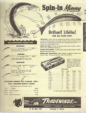 Original 1952 4pgs Tradewinds Inc.Price List Product Flyer Advertisement Fishing