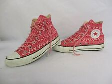 CONVERSE All Star Chuck Taylor High Top Trainers, Pink Christmas, UK 5, Eur 37.5