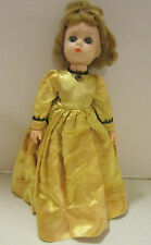 "1957-58 Mme Alexander 11.5"" Lissy- Little Women- satin dress-jntd knees & elbows"