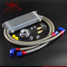 7 Row AN10 Oil Cooler w/ 3/4*16& M20*1.5 Filter Adapter Hose Kit For Japan Car