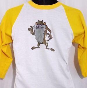 Tasmanian Devil Baseball T Shirt Vintage 80s Team Lotus Tee Made In USA Small