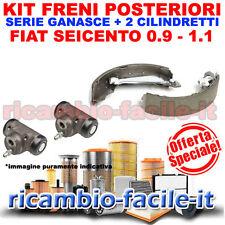 KIT FRENI POSTERIORI FIAT SEICENTO 0.9 1.1 900 1100 GANASCE + CILINDRETTI FRENO