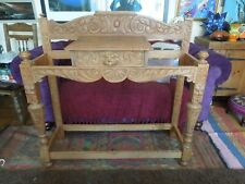 More details for green man large carved wooden hall stand - northampton nn1