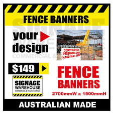 Custom Outdoor Fence Mesh Banner Sign Wrap - 2700mmW x 1500mmH Signage Warehouse