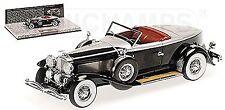 Duesenberg Modelo J Torpedo Convertible coupé 1929 negro plata 1:43 Minichamps