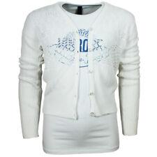 Design Strickjacke Gr. 110-116 / Vinrose / Mädchen Weiß Überwurfjacke Weste Sale