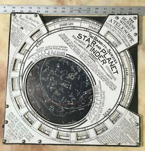 1906 Barritt Serviss Star and Planet Finder Vintage Planisphere