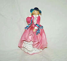 """Royal Doulton Lady Figurine """" Top of the Hill"""" Pink and Blue #1849"""