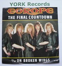 """EUROPE - The Final Countdown - Excellent Condition 7"""" Single Epic A 7127"""