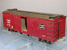 "BACHMANN KIT BUILT No. C&S ""REEFER"" /  BOX  CAR WITH DETAIL DIECAST BOGIES ETC,."