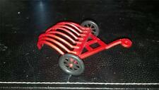 T. Cohn Farm Implement - Red Plastic Hay Rake with Black Wheels.