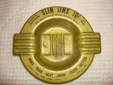 Vintage SLIM JIMS ADVERTISING ASHTRAY Metal Spiced Sausage 10 Cents!