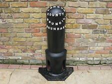 London County Council Boundary Cast Iron Bollard