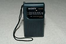 Sony ICF-S10 FM/AM Portable Pocket Radio-Black Tested & Working FREE SHIPPING
