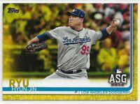 2019 Topps Update Hyun-Jin Ryu All-Star Yellow Walgreens Dodgers #US297