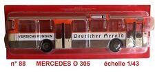 MERCEDES BENZ O 305  année 1979  Autobus et Autocar du Monde 1/43 Neuf n° 88