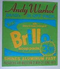 Andy Warhol•Brillo Soap Pads•Pasadena June 1970 Exhibition POSTER Silk Screen