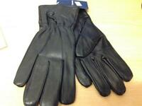 Ladies Genuine Deluxe Brown leather gloves new with tags medium / large