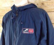 Vtg US Olympic Ski Jacket Men Medium Lake Placid Training Center Nylon MV Sports