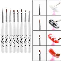 8Pcs/Set UV Gel Nail Art Brush Polish Painting Pen Brush For Manicure