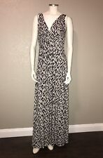 TART Collections Adrianna Black White Modal Jersey Sz Small Print Maxi Dress A53