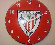 Reloj hecho a mano sobre disco de vinilo - Athletic Bilbao