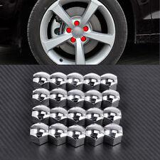 321601173A Chrome 17mm Wheel Locking Lug Bolt Center Nut Covers Caps Hexagon x20