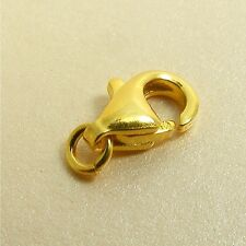 Gold Filled Base 925 STERLING SILVER 9.5MM Lobster CLASP with Open Jump Ring