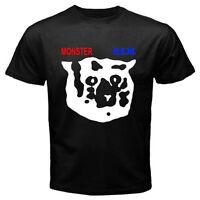 New R.E.M Monster Rock Logo Men's Black T-Shirt Size S-3XL 100% cotton