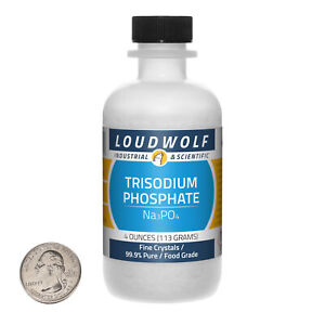 Trisodium Phosphate / 4 Ounce Bottle / 99.9% Pure Food Grade / Fine Crystals