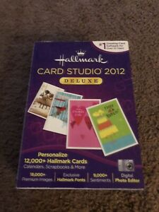 Hallmark Card Studio 2012 Deluxe Greeting Card Software Personalize Cards New !
