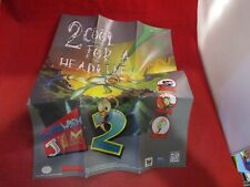 Earthworm Jim 2 Super Nintendo Snes Foldable Promo Poster Insert Only
