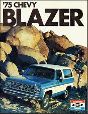 1975-Chevy Blazer`Chevrolet`Dealership/Sale Brochure Blue/white