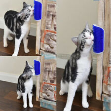 Wall Mount Cat Brush Self Groomer Massage Catnip Pet Hair Shedding Dog Tool New