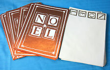 NOEL Holiday 20 Christmas Cards & Envelopes Image Arts Bronze Foil