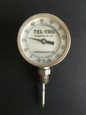 USA MANUFACTURED INDUSTRIAL THERMOMETER. FULLY FUNCTIONAL -:- TEL-TRU. NY, USA.