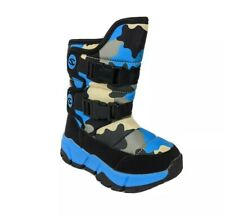 USA Infant Toddler Baby Boy Ankle Snow Boots Camo Shoes Anti-slip Sneakers Sz 6