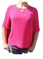 Size 14 pink keyhole blousen Top by Dorothy Perkins, 3/4  RRP £22 gold