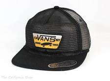 Vans Off The Wall Malted All Mesh Trucker Hat Mens Black Snapback New NWT OSFM