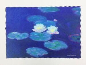 "Lens cloth - Microfiber - Fine Art Design: ""Waterlilies"" by Monet  - Unique"
