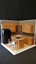 """Corner Kitchen"" A Hand Crafted 1:6 Scale Diorama Room Box 042"
