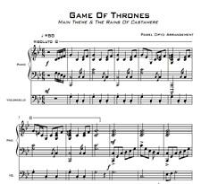 Music score - Game Of Thrones - Pdf